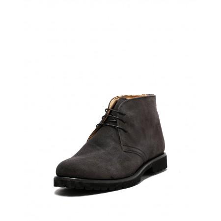 bagatt男士意大利原装进口翻毛皮绑带高帮鞋10BN431304A·灰色