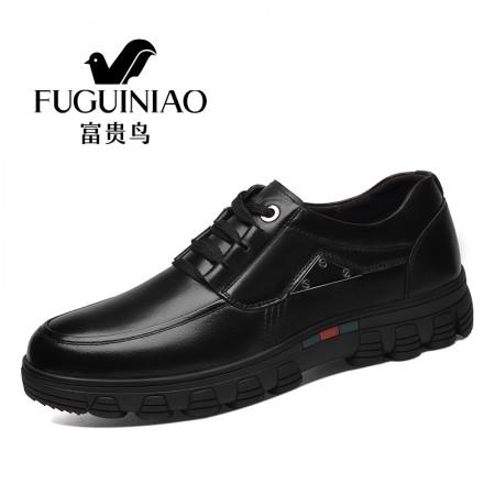 富贵鸟新款男士休闲鞋正装商务真皮皮鞋 A781054·黑色