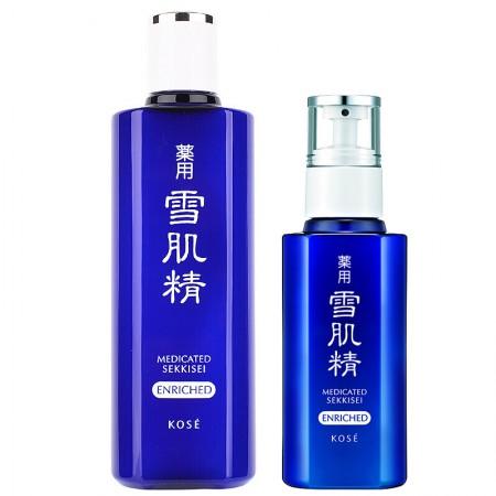 香港直邮 高丝(KOSE)雪肌精明星盈润水乳套装(水+乳)滋润型