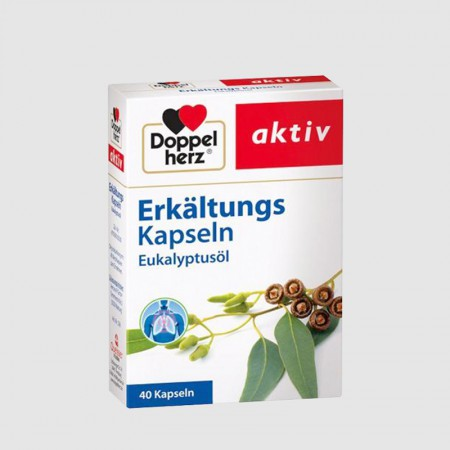 跨境品德国双心天然桉树油润肺胶囊