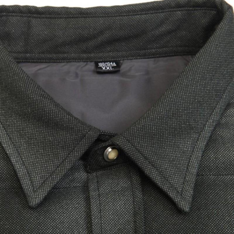 俞兆林羽绒保暖衬衫加厚修身款保暖衬衣YZL310011·深灰色