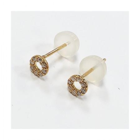 Vermeer 18K金钻石圆形耳钉10分·钻石