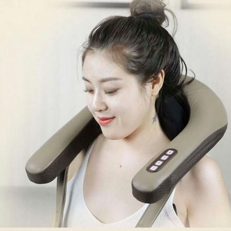 asmek颈肩4D仿真人揉捏披肩 颈椎按摩器