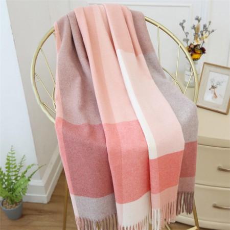 秋冬英伦经典羊毛 围巾·粉色