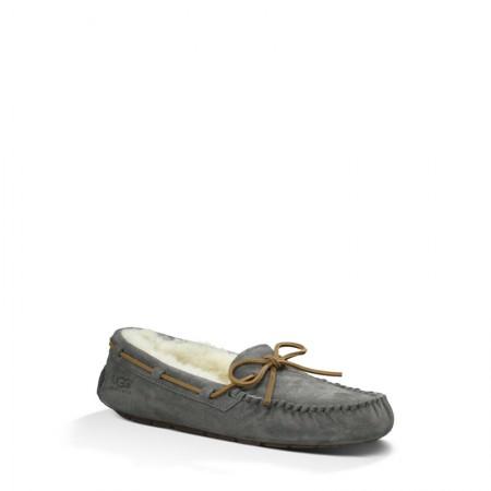 UGG 女款豆豆鞋蝴蝶结款·蓝灰色