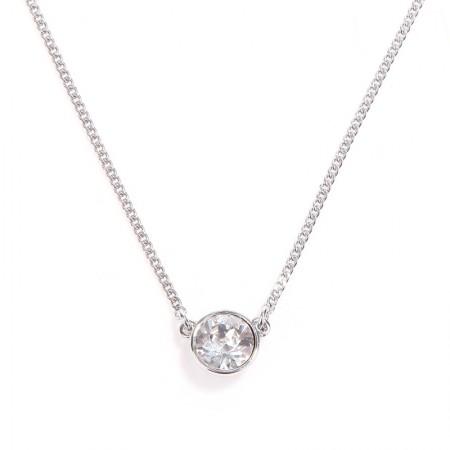 Givenchy/纪梵希 圆型单钻项链·银色
