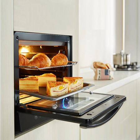 北美电器(ACA)电烤箱家用立式 38升智能菜单语音 热风循环ATO-EW3817