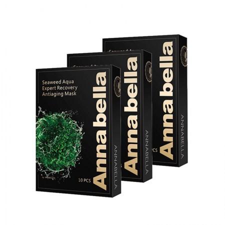 香港直邮 安娜贝拉(Annabella) 黑金版海藻面膜10片/盒*3盒
