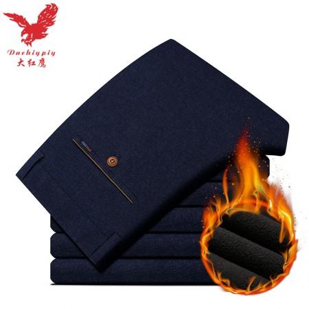 大红鹰休闲裤M211加绒·藏青色