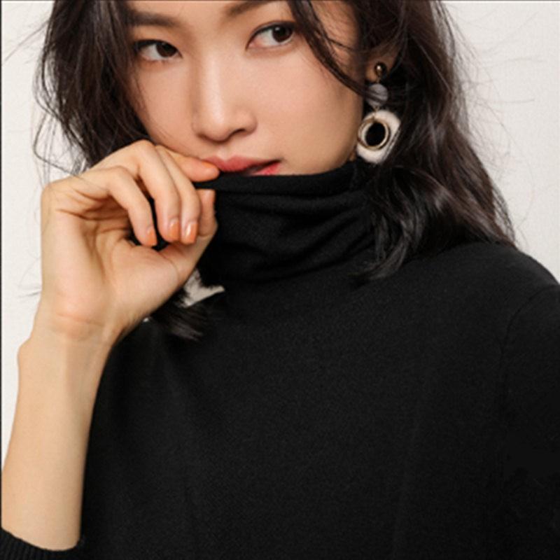 秋冬简约保暖堆堆领打底衫·9色可选·驼色  驼色