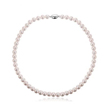 Vermeer S925银无调色日本AKOYA海水珍珠全珠项链8-8.5mm·白