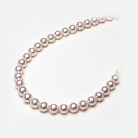 Vermeer S925银无调色日本AKOYA海水珍珠全珠项链8.5-9mm·白