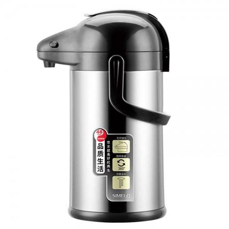 SIMELO施美乐 玻璃内胆太极气压壶暖壶保温壶3L·雅黑