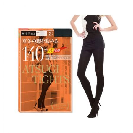 【香港直邮】日本制 厚木 发热连裤袜 不起球 140D  黑色 一包(每包2双)