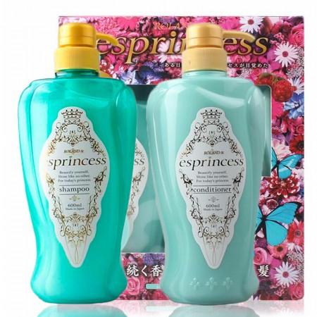 日本进口 花王 esprincess花之物语香氛洗发水护发素套装