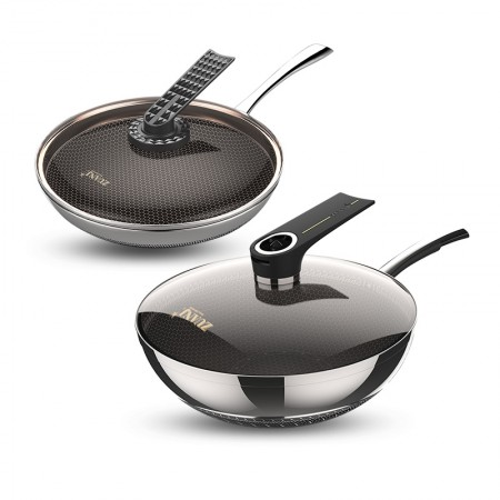 ZUANJ/钻技 不锈钢炒煎汤锅奶锅刀具大满贯·不锈钢色