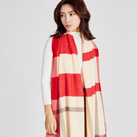 秋冬英伦经典羊毛 围巾·红色