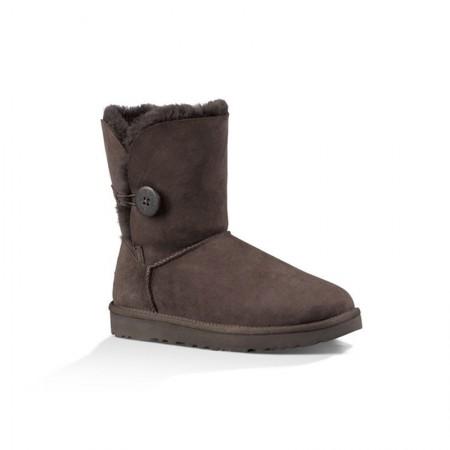 美国UGG Angelababy代言休闲经典款纽扣中筒靴·巧克力色  巧克力色