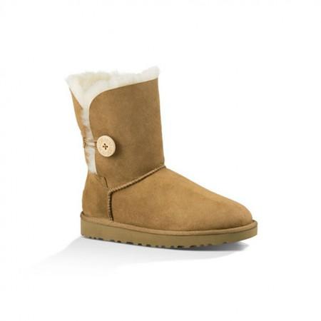 美国UGG Angelababy代言休闲经典款纽扣中筒靴·栗色