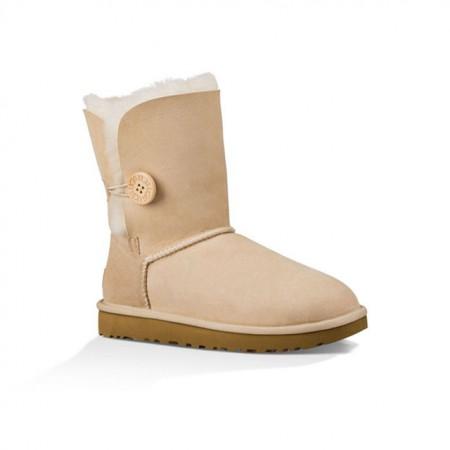 美国UGG Angelababy代言休闲经典款纽扣中筒靴·沙色