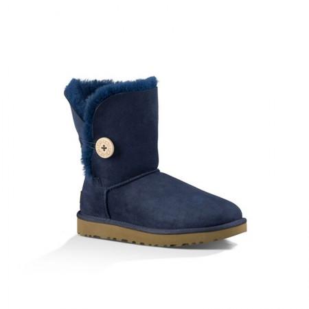 美国UGG Angelababy代言休闲经典款纽扣中筒靴·深蓝色