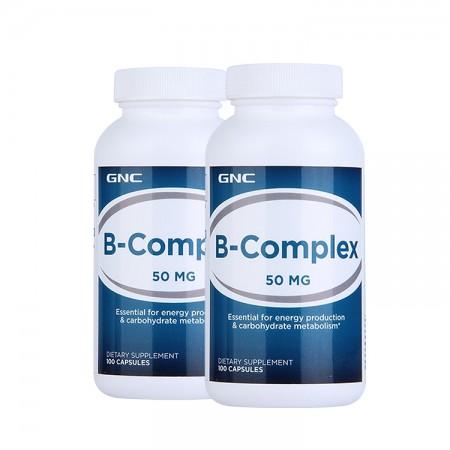 美国GNC健安喜维生素B族复合胶囊50mg 100粒*2