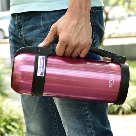 泰福高不锈钢真空保温壶旅行壶暖壶1.5L·紫色