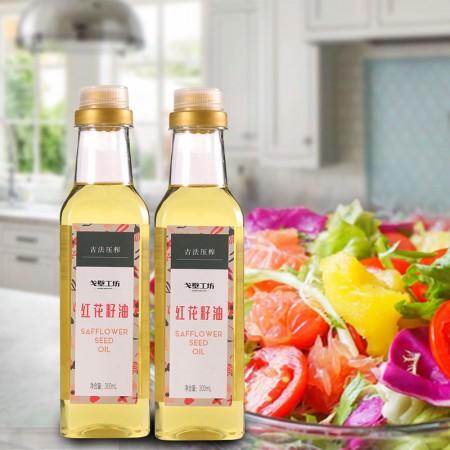 戈壁工坊 红花籽油300ml*18瓶