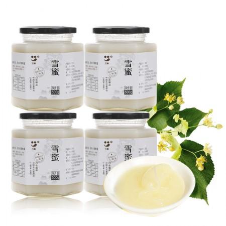 三森自然成熟椴树雪蜜500g*4罐大容量组合