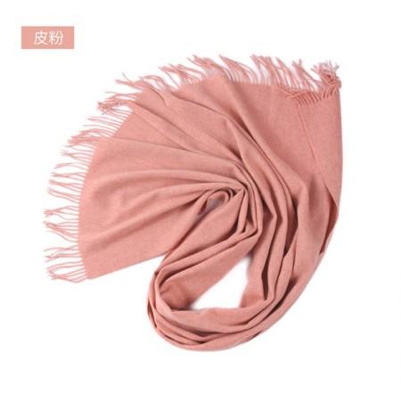 漫丽依加厚全羊毛围巾大披肩70*200CM SWR0030·皮粉