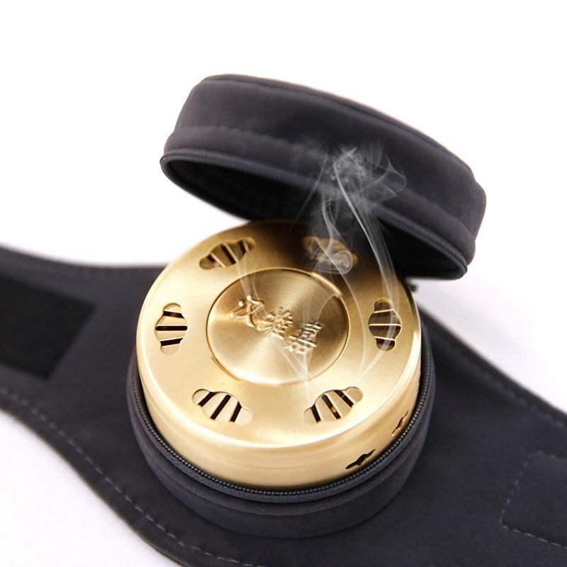 汉维嘉艾灸盒随身灸家用仪器熏蒸无烟包防烫家庭式温灸罐单联足底灸