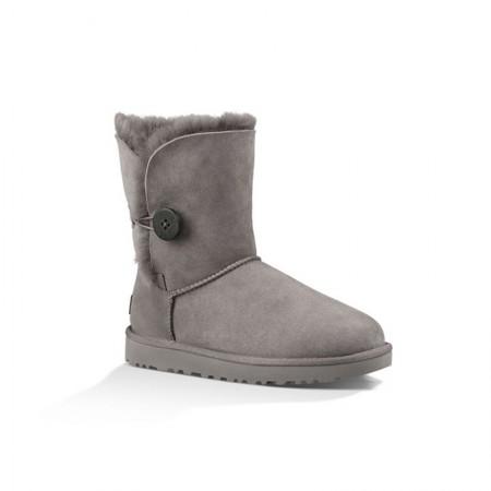 美国UGG Angelababy代言休闲经典款中筒靴雪地靴·纽扣灰色