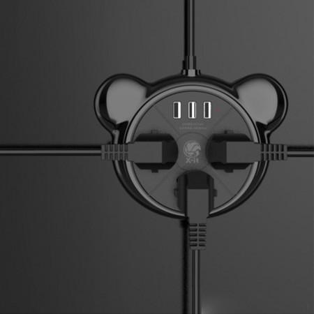 爱奇美延长线插座·黑色