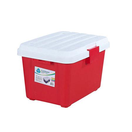 茶花多功能收纳箱35L 红色
