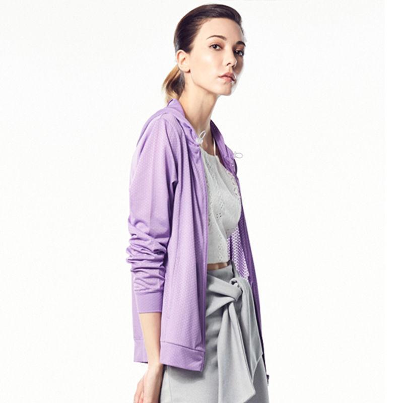 BC凉感透气轻薄防晒衣·淡紫色