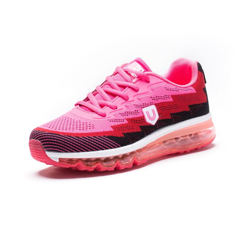 美国品牌u.shoe优树全脚掌气垫运动休闲运动鞋·粉色