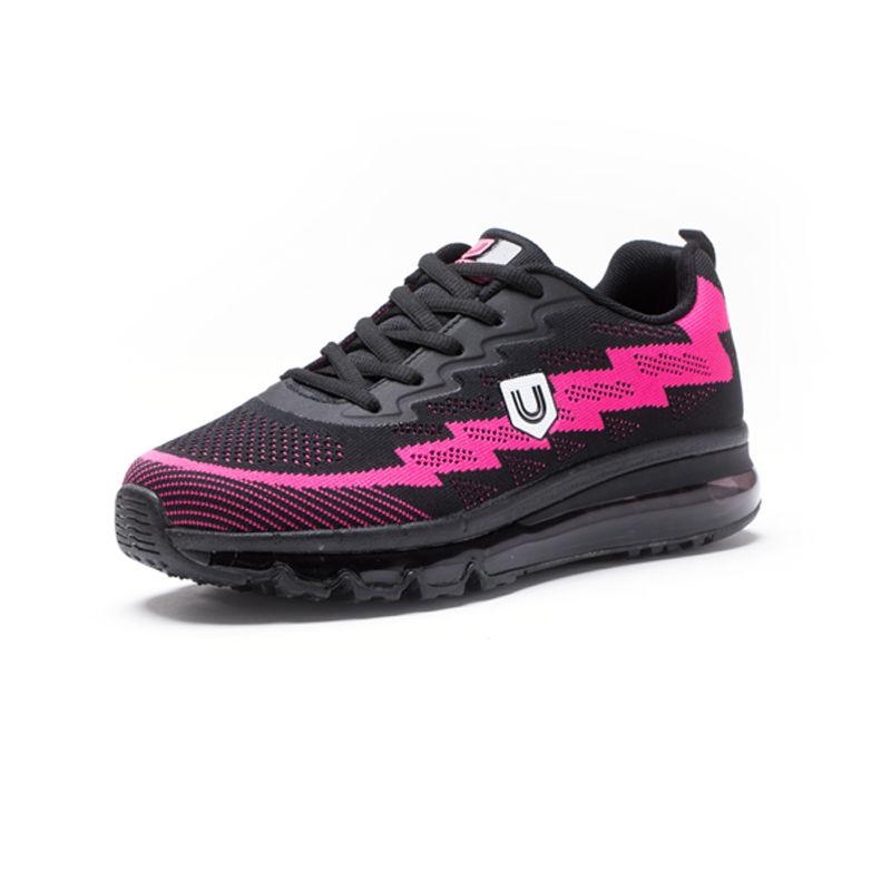 美国品牌u.shoe优树全脚掌气垫运动休闲运动鞋·黑色