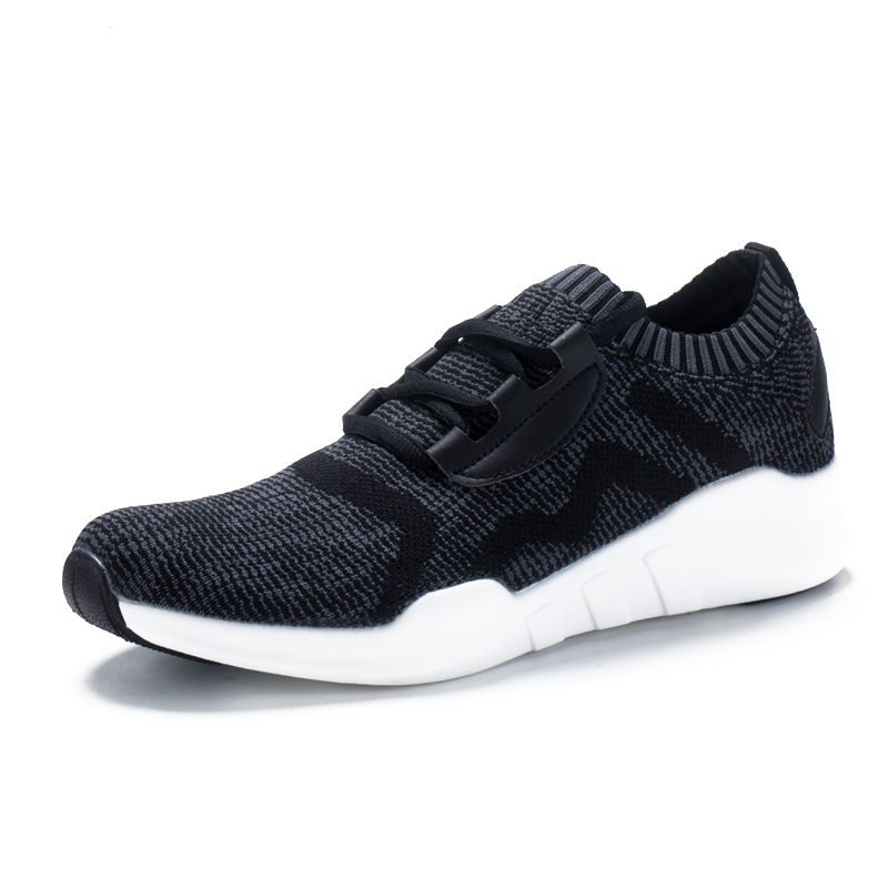 情侣运动鞋飞线飞织跑步运动鞋软底轻便鞋子男潮鞋·121712210028-黑色