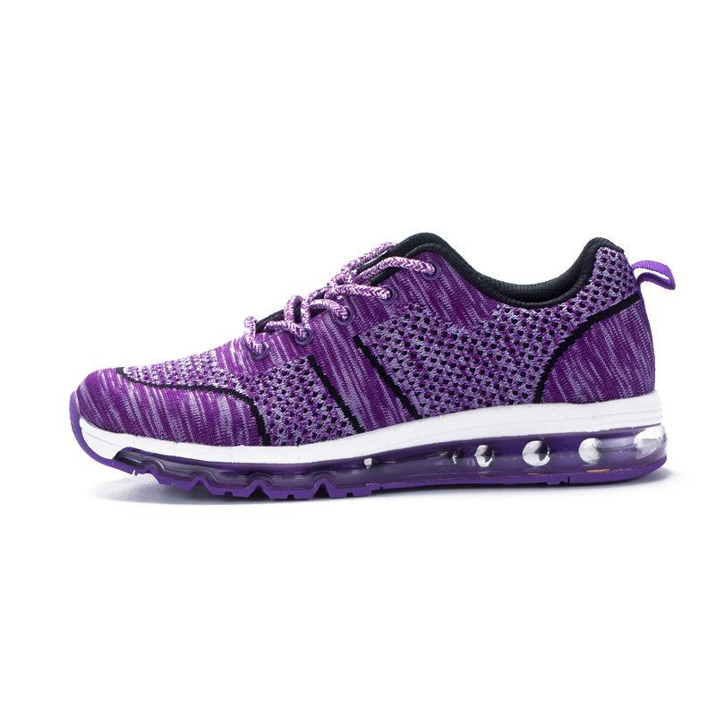 运动休闲情侣慢跑鞋飞织网布轻便减震透气运动跑鞋·EK17QM07014-1-薰衣
