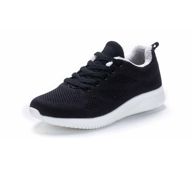 【特价】运动棉鞋女士休闲百搭女鞋023-1黑色