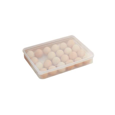 吉优百 加厚可叠加24格透明带盖鸡蛋盒单层