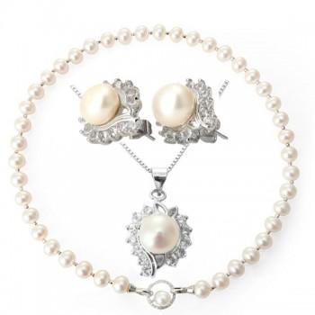 安妮AAA级奢华珍珠项链10-11mm 白色