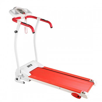 消脂减肥-海斯曼居家时尚可调节电动跑步机 红色