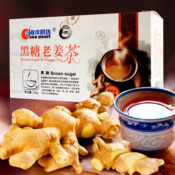 海洋明珠黑糖老姜茶15袋*6盒 呵护健康