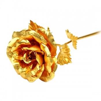 海普伊珊超大号24k千足金箔玫瑰花 黄金色