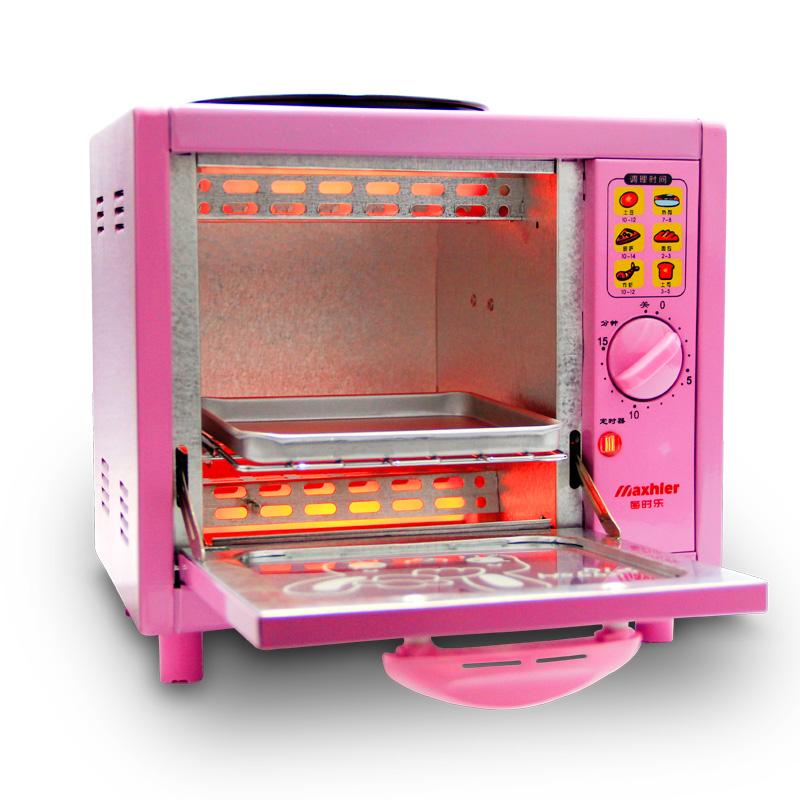 每时乐粉色迷你电烤箱msl-1028