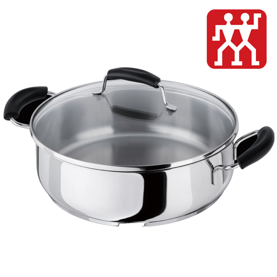 [德国双立人] 炫银刀具1套+26厘米煎炒锅+厨房多用剪