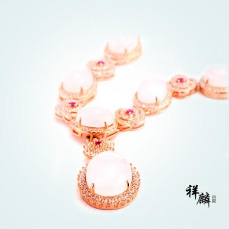 """祥麟""""传世瑰宝""""羊脂玉项链(限量款) 白色"""