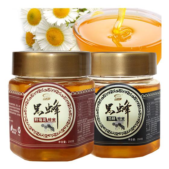 [山水源]新疆伊犁黑蜂蜂蜜250g*8瓶 2种口味
