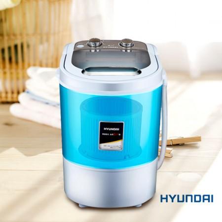 韩国现代洗脱两用迷你洗衣机 蓝色